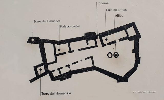Plano del Alcázar de Gormaz