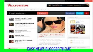 Easy News V2.0 Responsive Blogger Theme - Responsive Blogger Template