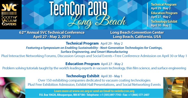 BALD Engineering - Born in Finland, Born to ALD: SVC TechCon 2019 Long Beach California has a ...