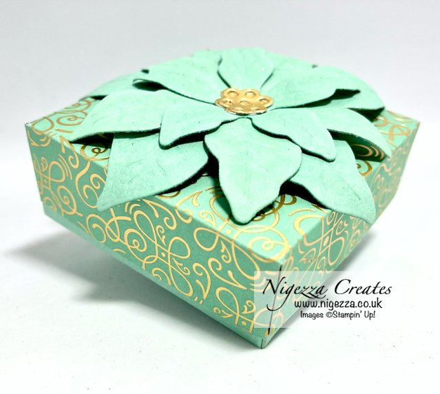 Large Ikea Tea Light Gift Box Using Poinsettia Petals