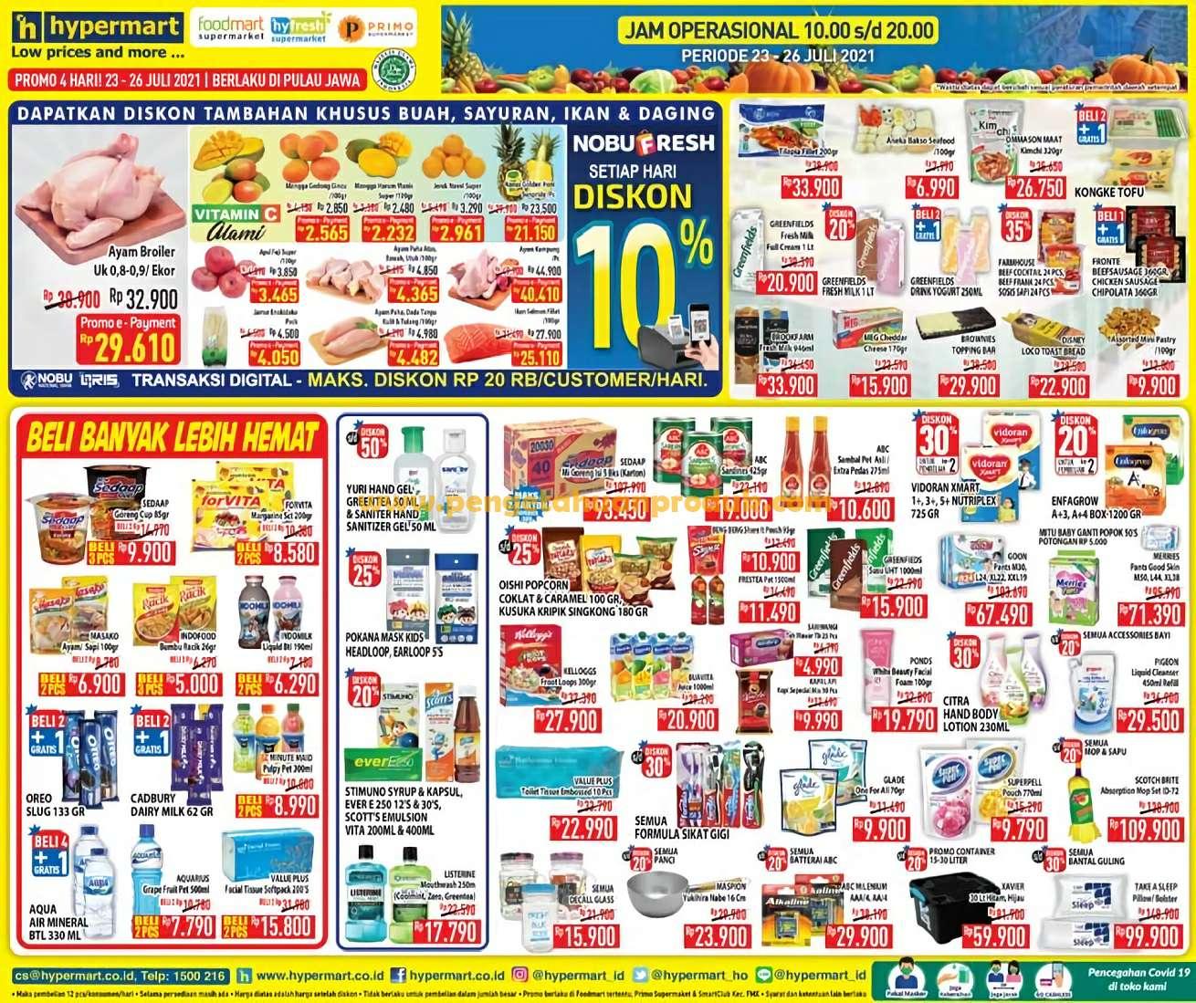 Katalog Promo Hypermart Weekend Periode 23 - 26 Juli 2021