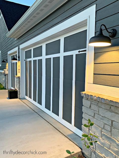 simple updates to garage doors