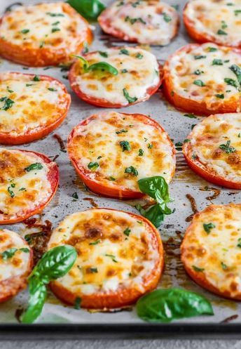 BAKED TOMATOES WITH MOZZARELLA & PARMESAN (BAKED PARMESAN TOMATOES) #recipes #healthyfoodrecipes #food #foodporn #healthy #yummy #instafood #foodie #delicious #dinner #breakfast #dessert #lunch #vegan #cake #eatclean #homemade #diet #healthyfood #cleaneating #foodstagram