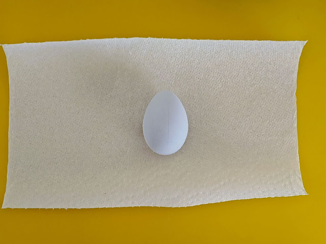 plastic craft egg from Walmart