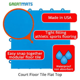 Greatmats Court Floor Tile Flat Top Dance Floor Underlayment