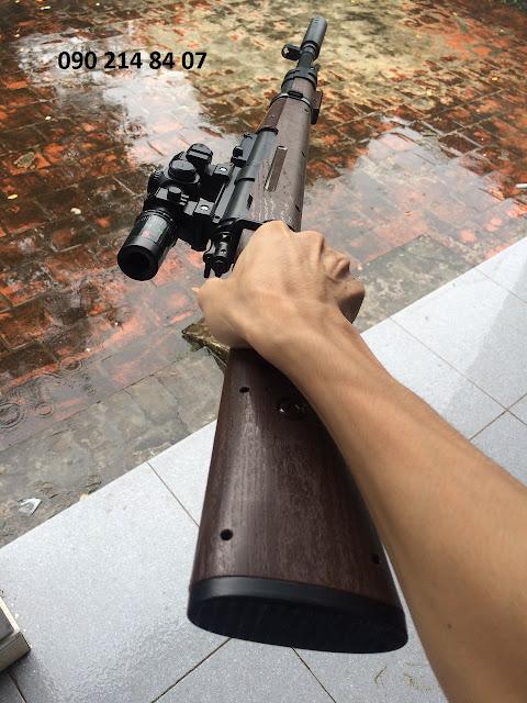 Súng bắn đạn thạch K98 110cm_3