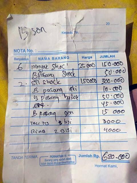 WAW Biaya Ganti Seal Shock Depan Byson Habis 500 Ribu !!! Bengkel Siapa Ini?