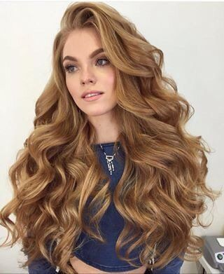 Long Big Curls Hairstyle