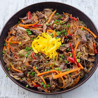 Japchae best street food of south korea