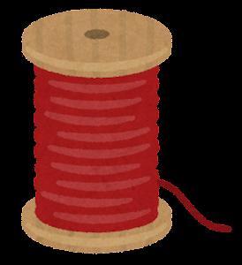 糸巻きのイラスト(赤)