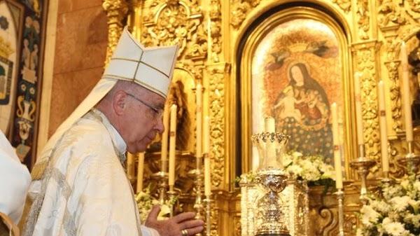 El obispo de Huelva presidirá un triduo de rogativas en el santuario de la Cinta