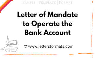 letter of mandate to operate account
