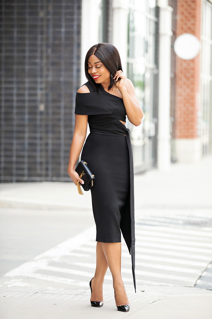 summer wedding, black dress, www.jadore-fashion.com