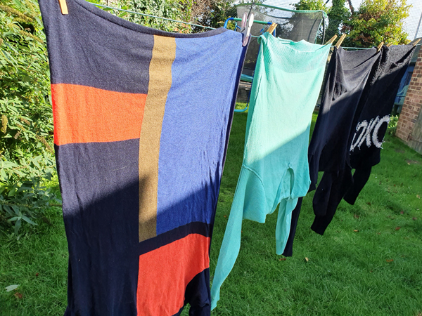 Jumpers on the washing line