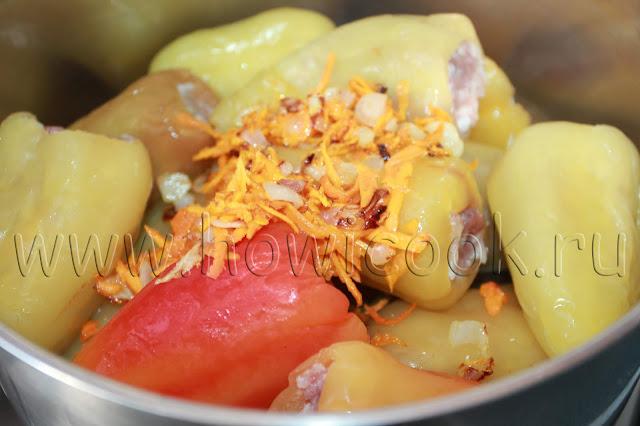рецепт фаршированных перцев с мясом и рисом с пошаговыми фото
