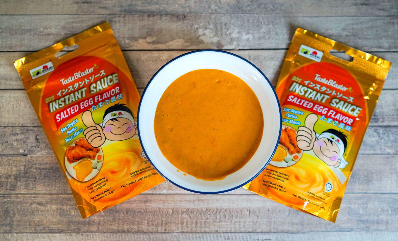 Soy Asahi Salted Egg Instant Sauce: Malaysia's easiest way to make salted egg sauce at home