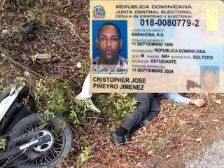 Muere empleado de Adopem en accidente de motocicleta  carretera Cabral-Polo