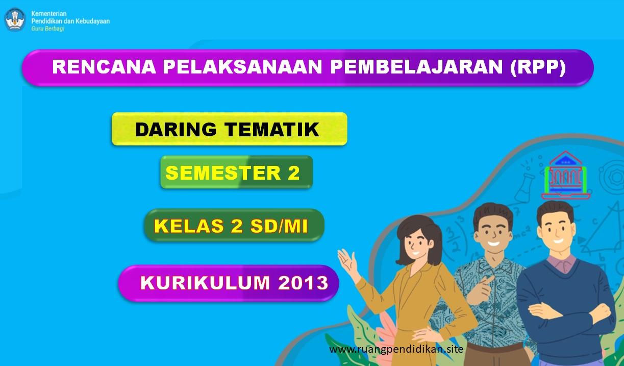RPP Daring 1 Lembar Tema 5 6 7 8 Semester 2