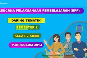 Contoh RPP Daring 1 Lembar Tema 5 6 7 8 Semester 2 Kelas 2 SD/MI Kurikulum 2013