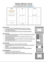 FREE PDF: Double Wonder Cards Cutting Instructions, Template, and Card Layouts ~ www.juliedavison.co