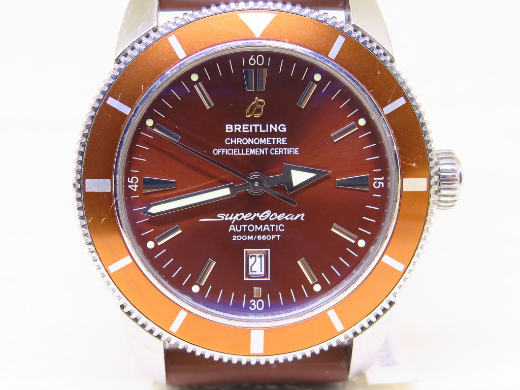 BREITLING SUPEROCEAN HERITAGE 200m CHRONOMETRE 46mm BROWN DIAL - AUTOMATIC