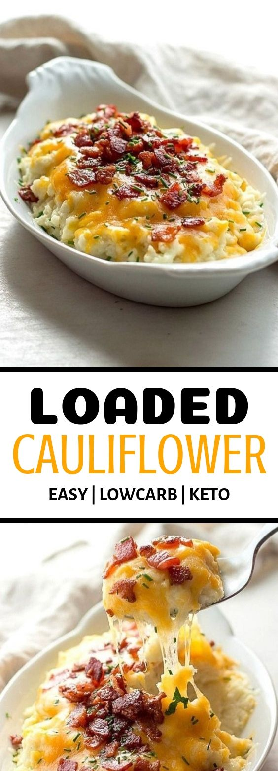 Loaded Cauliflower (Low carb | Keto)