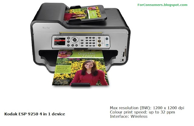Kodak ESP 9250 4 in 1 printer features and specs
