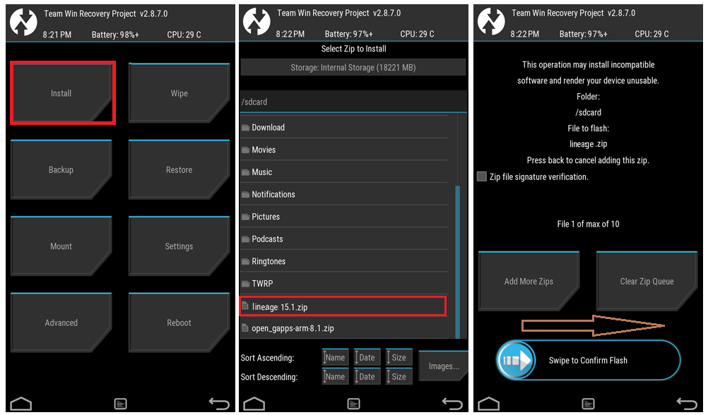 How to Install a Custom ROM using TWRP Recovery - Kbloghub