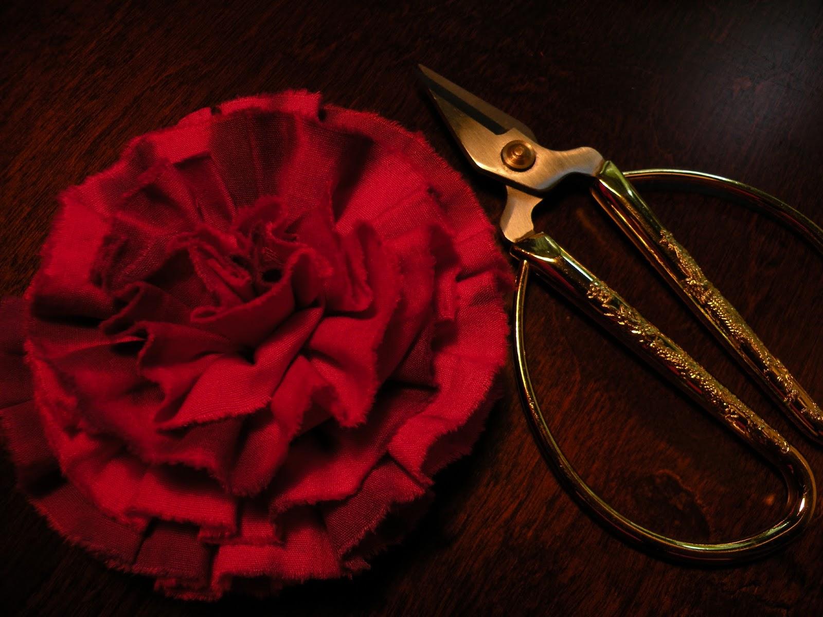 ruusu ompelu ohje