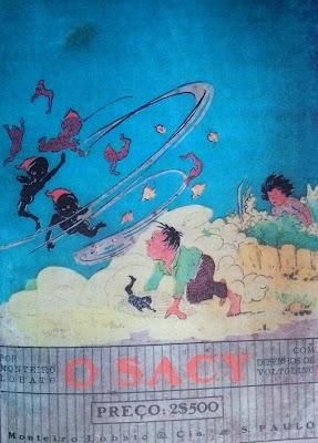 O sacy. Monteiro Lobato. Editora Monteiro Lobato & Cia. 1921 (1ª edição). Capa e ilustrações de Voltolino (Lemmo Lemmi).