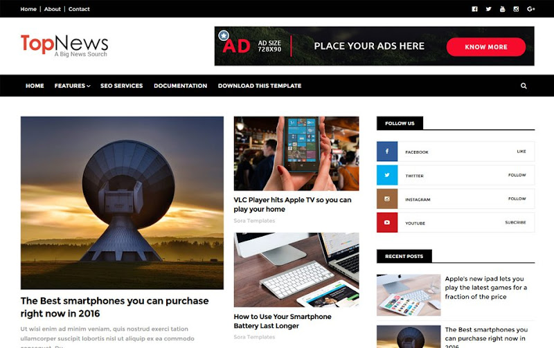12+ Best Free Responsive Blogger Templates 2020 Free Blogger Themes