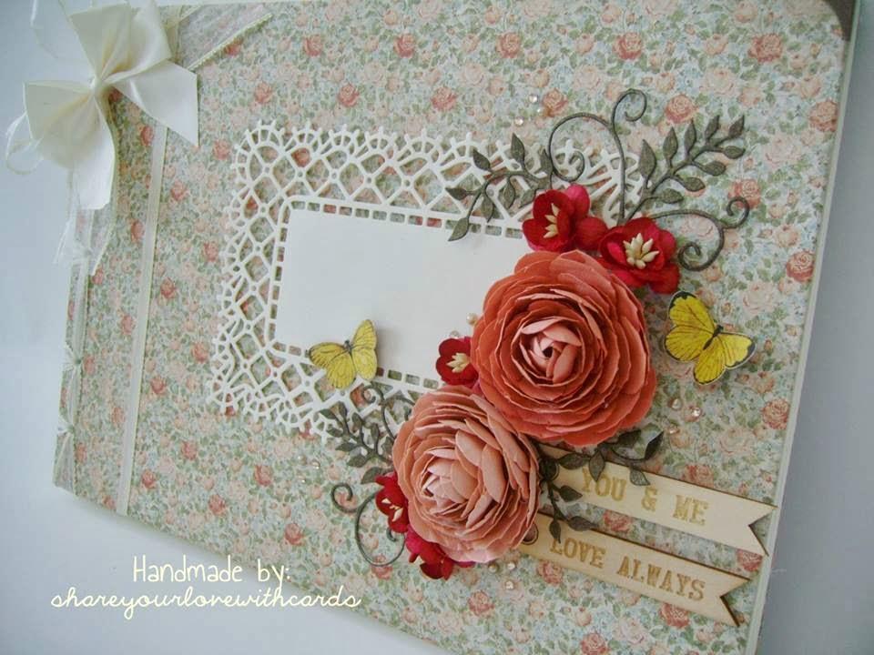 shareyourlovewithcards Handmade Wedding Guest Book for Sale
