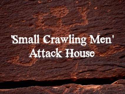 'Small Crawling Men' Attack House