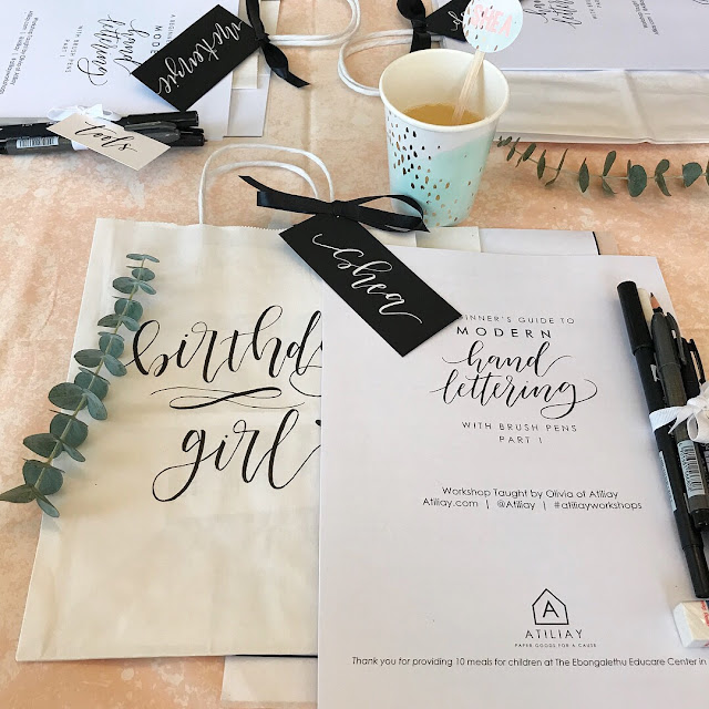 Check out this Calligraphy & Cocktails Birthday Party!