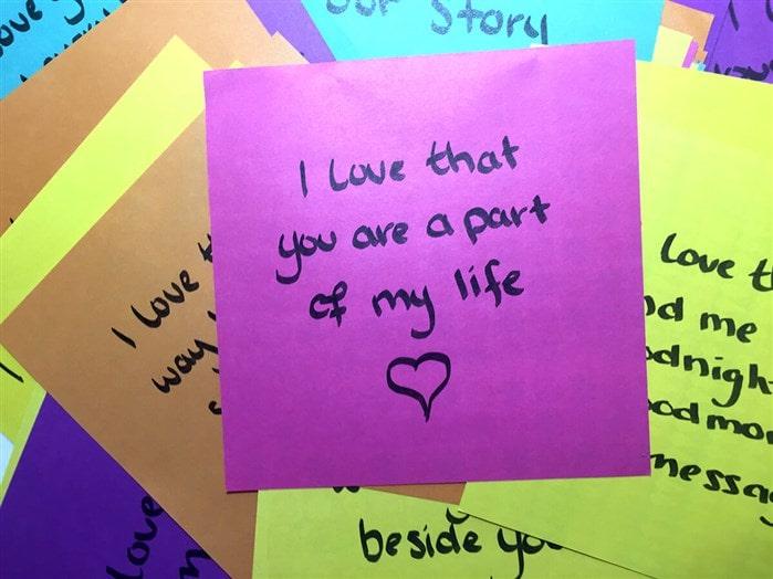 Aşk notları yazın