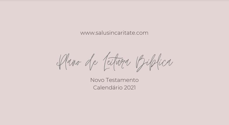 calendario de leitura biblica catolico novo testamento