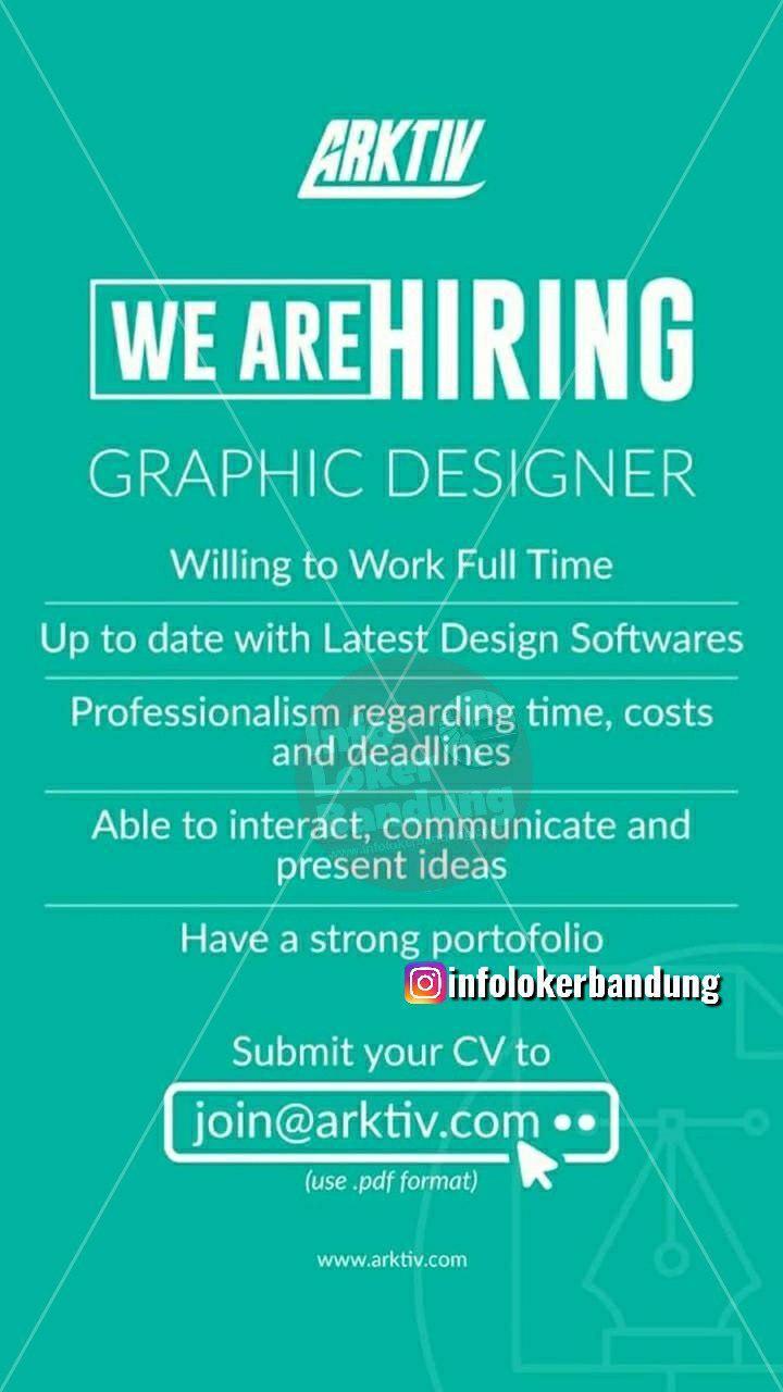 Lowongan Kerja Graphic Designer Arktiv Bandung Mei 2019