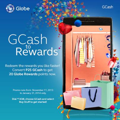 Convert your Globe GCash to Globe Rewards
