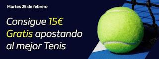 william hill Consigue 15€ Gratis apostando a Tenis 25-2-2020