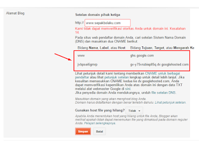 TUTORIAL Mengganti Domain Blog dengan Domain Sendiri 44