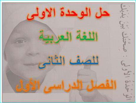 حل كتاب النشاط لغة عربية للصف الثانى الفصل الدراسى الأول - مناهج الامارات