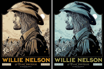 "Willie Nelson ""Austin 1974"" Screen Print by Ken Taylor x Collectionzz"