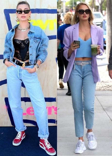 Hailey Baldwin Bieber, Romee Strijd, Looks estilosos com calça jeans