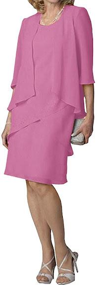Elegant Short Knee Length Mother of The Groom Dresses