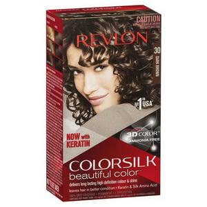 huốc Nhuộm Tóc Hàng Xách Tay Từ Mỹ Revlon ColorSilk 3D #30 Dark Brown