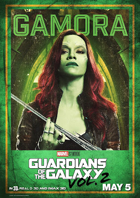 Gamora Guardians of the Galaxy Vol 2 character poster