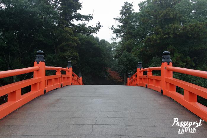 Pont vermillon, sanctuaire Usa-jingû, Oita