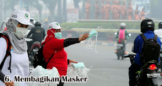 Membagikan Masker merupakan salah satu cara seru untuk merayakan hari kartini