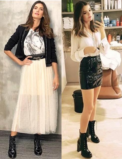 12 Looks inspiração com coturno, Isabella Fiorentino, Camila Queiroz