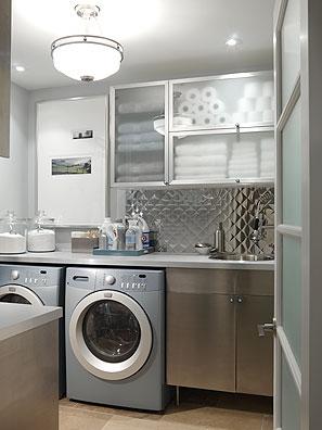 Construindo minha casa clean lavanderias lindas modernas for Moderno mudroom fattoria